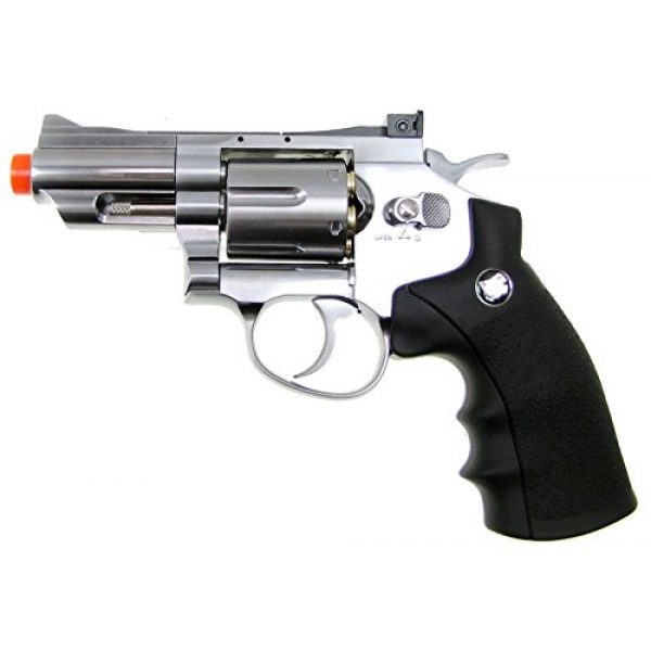 "Boomingisland Airsoft Pistol 1 Boomingisland Wingun 708 2.5"" Airsoft CO2 Revolver Silver"