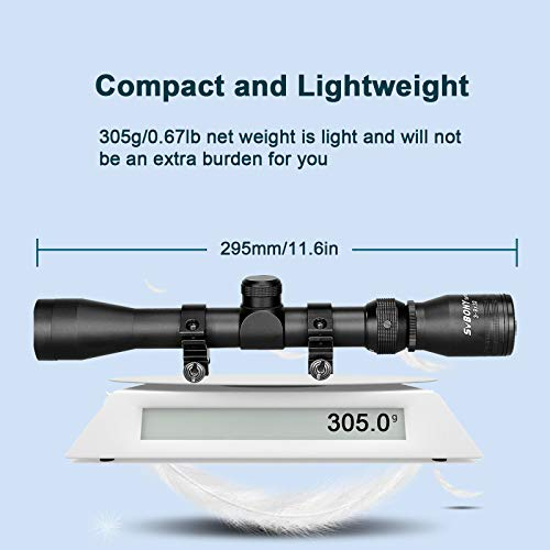 SVBONY Rifle Scope 2 SVBONY SV176 Rifle Scopes,3-9x32mm Sight Scope,Dioptre Adjustable IPX6 Waterproof Shockproof with 20/22mm Rangefinder Scope for Outdoor Sports Activities