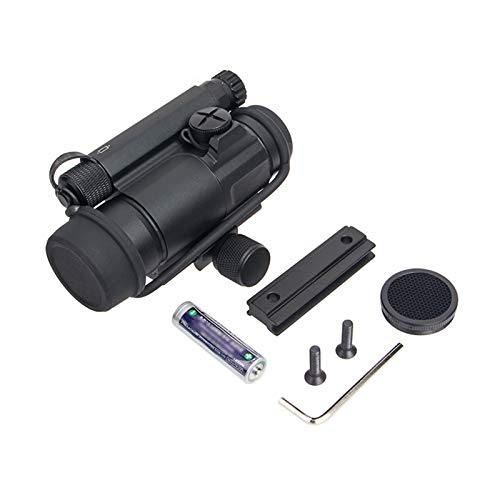 Fashion Sport Rifle Scope 7 Fashion Sport Tactical M4 1x32 Sight red/Green dot Sight Scope 2 MOA for Rifle air Guns Shooting Hunting with Raise Mount Base