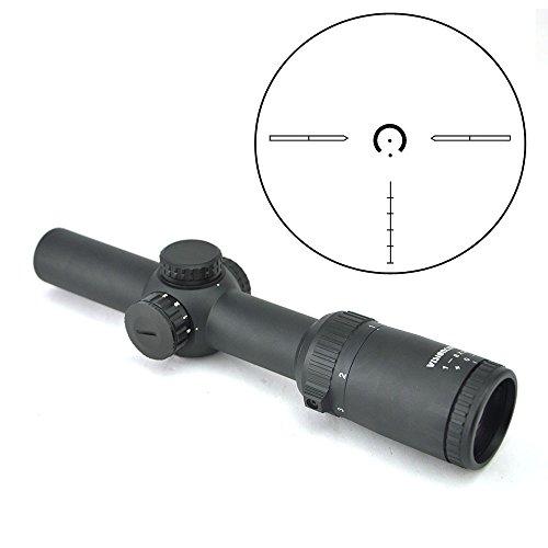 Visionking Rifle Scope 1 Visionking Optics 1-8x24 Long Eye Relief Rifle Scope 1/10 MIL Low Profile Turret Illuminated Dot