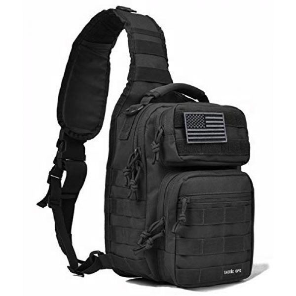 Tactic Ops Tactical Backpack 1 Tactical Sling Bag Backpack Pack Military Waterproof Assault Rover Shoulder Sling Molle Range Bag Everyday Carry EDC Diaper Bag Small Day Pack by Tactic Ops
