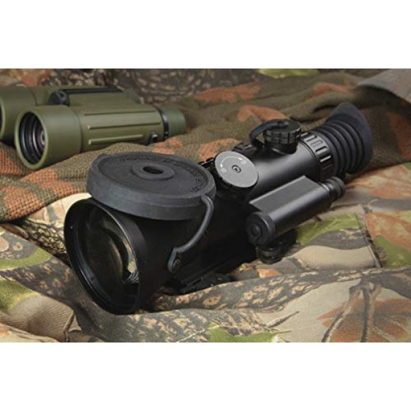"""PRG Defense Rifle Scope 5 PRG Defense 15WOL422103021 Model Wolverine 4 NL2 Gen 2+""""Level 2"""" Night Vision Rifle Scope with Sioux850 Long-Range Infrared Illuminator, 4X Magnification, 10m to Infinity Focus Range"""