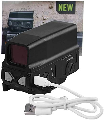 TTHU Rifle Scope 5 TTHU Rifle Scope Red Dot Sight Scope Holographic Sight for 20Mm Rail Hunting Scopes with USB Charge for Hunting