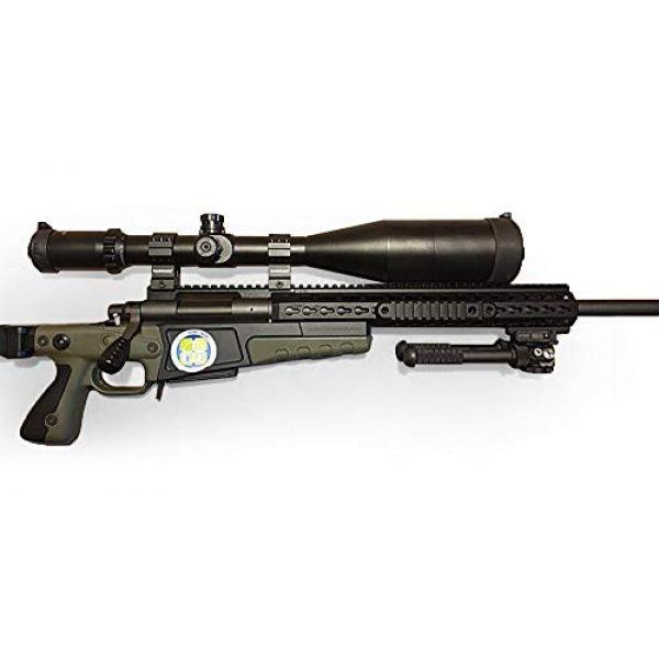 SECOZOOM Rifle Scope 6 SECOZOOM Optics ED Lens 4-50X75 Illuminated Riflescope First Front Focal Plane/FFP Glass-Etched Reticle 35mm Rifle Scope w 35mm Mount & 75mm Sunshade