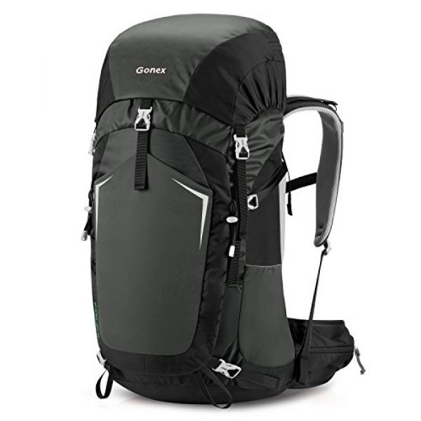 Gonex Tactical Backpack 1 Gonex 55L Hiking Internal Frame Backpack Outdoor Backpacking Camping Trekking Climbing Backpack with Rain Cover for Men Women