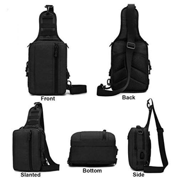 BraveHawk OUTDOORS Tactical Backpack 2 BraveHawk OUTDOORS Sling Shoulder Bag, 800D Military Nylon Multi-Purpose Daypack EDC Crossbody Pack Backpack Handbag