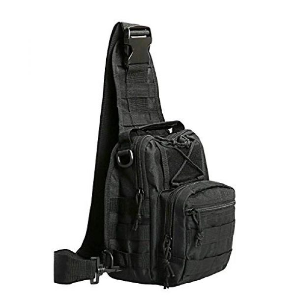 FengJu Tactical Backpack 1 Tactical Molle Military Shoulder Bag, Sling Shoulder Messenger Chest Pack for iPad or Gear Transport While Cycling, Hiking or Daily Use
