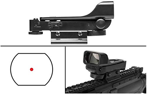 Ultimate Arms Gear Rifle Sight 4 Ultimate Arms Gear Polymer Reticle Red Dot Open Tubeless Reflex Scope Sight Weaver-Picatinny & Dovetail Mount Adapter Rail, Black for Remington 572 .22 Caliber