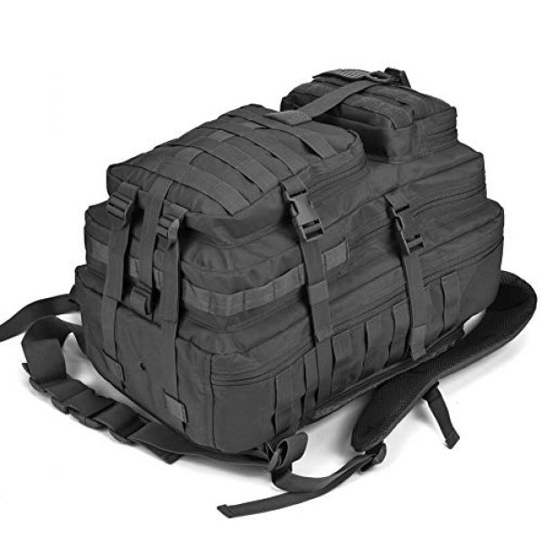 REEBOW GEAR Tactical Backpack 3 REEBOW GEAR Military Tactical Backpack Large Army 3 Day Assault Pack Molle Bug Bag Backpacks Rucksacks for Outdoor Sport Hiking Camping Hunting 40L Black