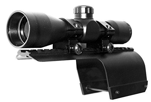 TRINITY Rifle Scope 1 TRINITY Hunter 4x32 Sight for Benelli Super nova Benelli Nova Picatinny Weaver Base Mount Adapter Aluminum Black Tactical Optics mildot Reticle Target Range Gear Single Rail.