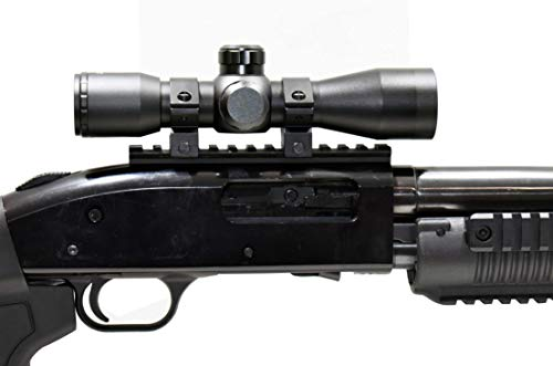 TRINITY Rifle Scope 2 TRINITY Mossberg 500 Mossberg 590 4x32 Scope and Rail Mount Kit Picatinny Weaver Mount Adapter Aluminum Black Tactical Optics Hunting Accessory mildot Reticle Target Range Gear Single Rail.