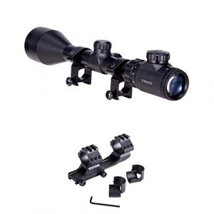 Pinty Rifle Scope 1 Pinty 3-9x50 Red Green Rangefinder Illuminated Optics Sight Scope Hunting Rifle Scope &1 Inch 25.4 mm 30mm Scope Mount
