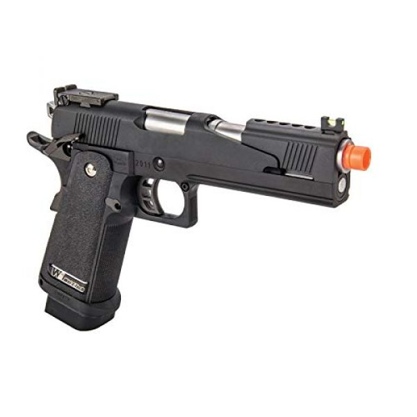 Lancer Tactical Airsoft Pistol 4 Lancer Tactical WE-Tech Black Dragon 5.1 Competition Series Hi-Capa Full Auto Gas Blowback Airsoft Pistol Black