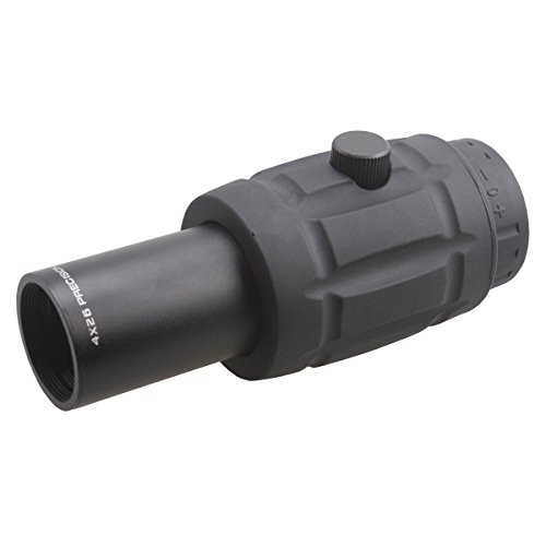 Vector Optics Rifle Scope 3 Vector Optics 3X, 4X, 5X Tactical Maginifier with Flip-to-Side Detach Quick Release QD Picatinny Mount and Flip-up Scope Lens Cover for Red Dot Reflex Sight (Matte Black) (4X)