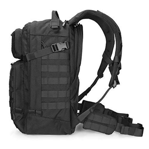 Scudo Tactical Tactical Backpack 2 SCUDO TACTICAL VERTICE 24 Military Backpack with 3L Hydration Bag / Insulated Hydration Pocket (Black, 37L)