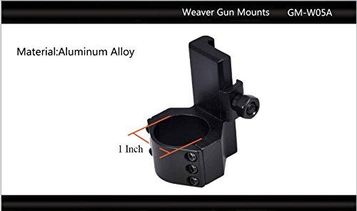 "Tactical Scorpion Gear Rifle Scope 2 Tactical Scorpion Gear TSG-GMW05A Cantilever Picatinny Weaver Scope Flashlight Mount 26mm 1 1/8"" - Black"