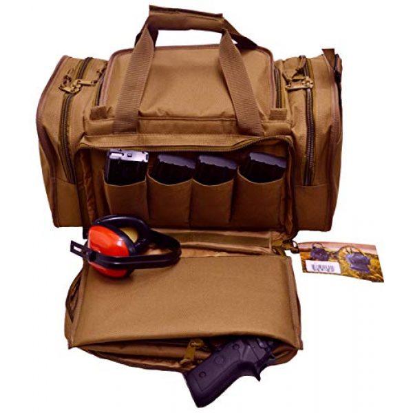 Explorer Tactical Backpack 3 EXPLORER Backpack + Range Bag with Large Padded Deluxe Tactical Divider and 9 Clip Mag Holder - Rangemaster Gear Bag (Brown Tan Range Bag)