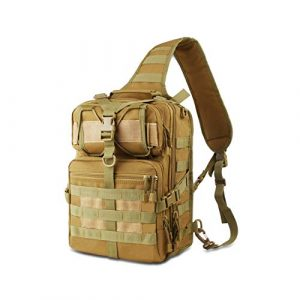 FUNANASUN Tactical Backpack 1 FUNANASUN Tactical Sling Backpack Bag Military Molle Assault Pack Rucksack Daypack for Outdoors Camping Hiking Hunting