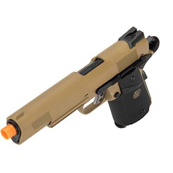Lancer Tactical Airsoft Pistol 3 Lancer Tactical WE 1911 Full Metal MEU Airsoft Gas Blowback Pistol with Picatinny Rail TAN 350 FPS