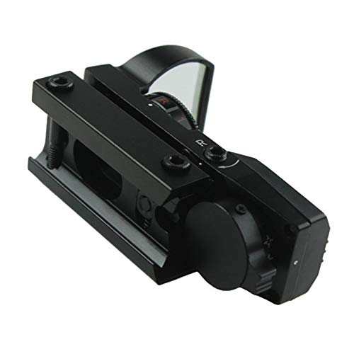 Without Rifle Scope 4 Toy Gun Sight Red dot Sight Magnification Red and Green Dot 4 Reflex Sight (Color : Black)