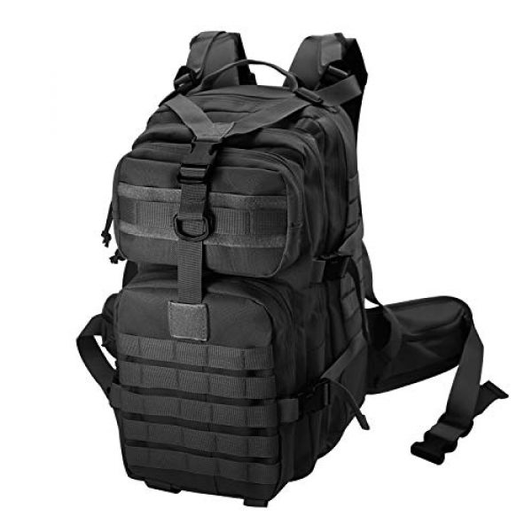 yoson.k Tactical Backpack 1 Tactical Backpack Military Army Molle Bag Black Small School Bookbag for Men Hiking Fishing Outdoor Survival