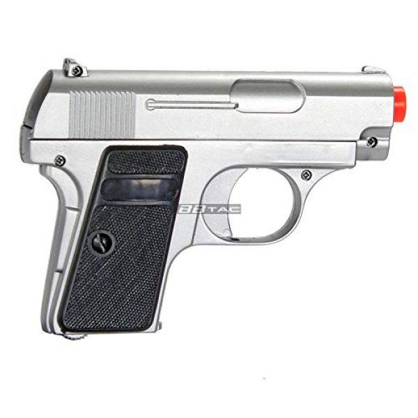 BBTac Airsoft Pistol 6 bbtac 618 110 fps spring concealable airsoft gun with storage case, black/silver(Airsoft Gun)