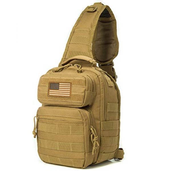 AXEN Tactical Backpack 1 AXEN Tactical Sling Bag Pack Military Rover Shoulder Sling Backpack Small