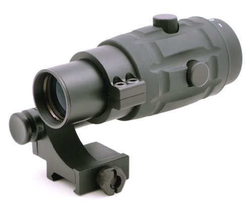TMS Rifle Scope 1 TMS Tactical 3X Magnifier Scope with Quick Flip to Side FTS Mount 36mm Co-Witness Cowitness Center Height for Red Dot Sights and EOTech Sights