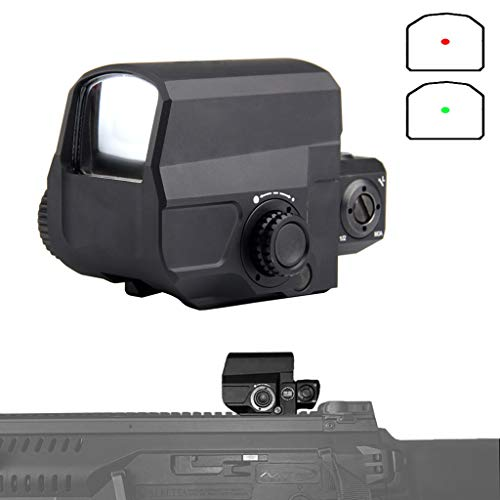 AJDGL Rifle Scope 1 AJDGL Tactical Red Dot Sight Rifle Scope- Hunting Holographic Reflex Sight with 20mm Rail Mount for Shooting