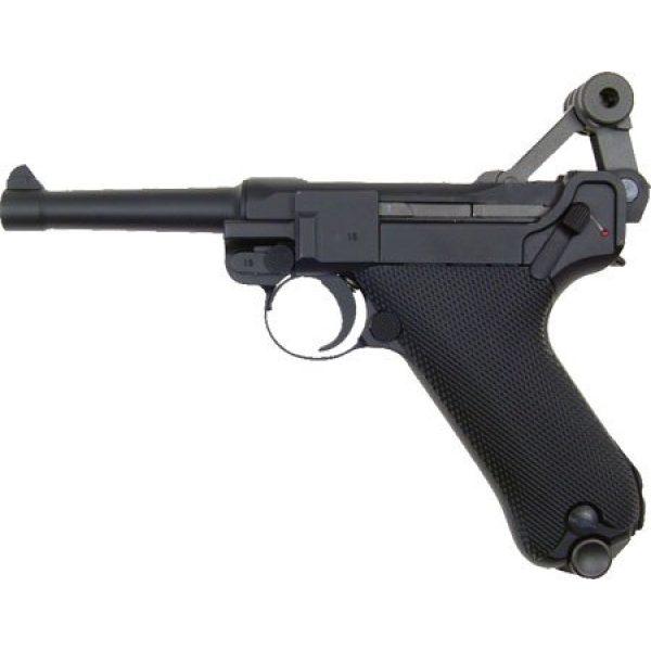 WE Airsoft Pistol 4 WE p-08 short version gas blowback full metal - black(Airsoft Gun)