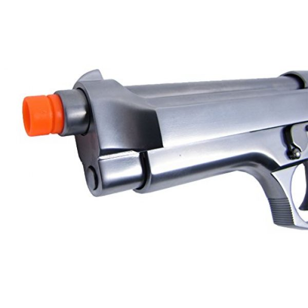 WE Airsoft Pistol 5 WE m92 gas/co2 blowback full metal - silver by we(Airsoft Gun)