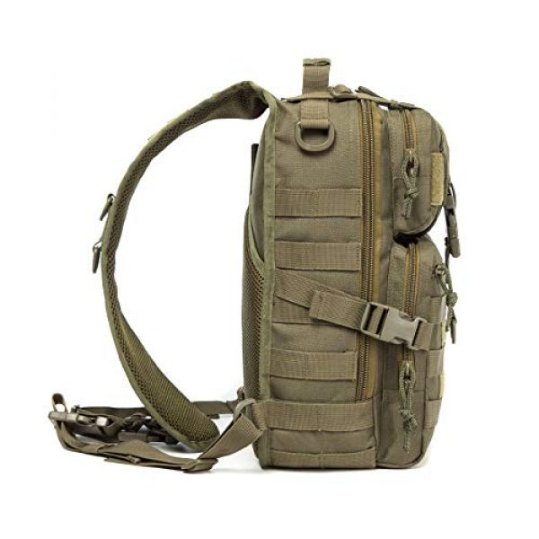 Harsgs Tactical Backpack 5 Harsgs Tactical EDC Sling Bag Pack, Military Rover Shoulder Molle Backpack, with USA Flag Patch