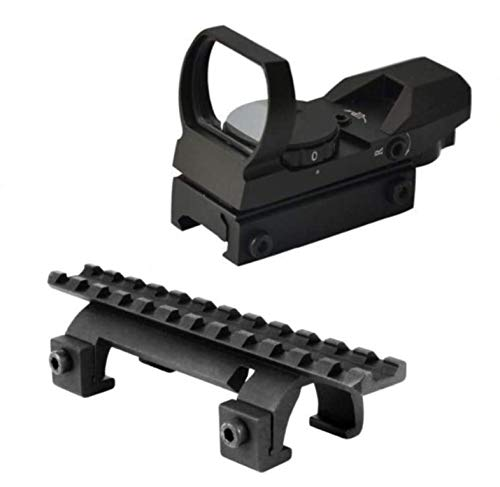 Ultimate Arms Gear Rifle Scope Mount 1 Ultimate Arms Gear Tactical Heckler & Koch H&K HK G3 MP 5 MP5 Submachine Gun Rifle Rail Claw Scope Sight Mount + Reticle Red Modern Destroyer Edition Open Reflex Sight