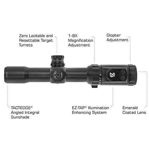 Leapers Rifle Scope 4 Leapers Inc, UTG 1-8x28mm 30mm MRC Scope, IE, BG4 Reticle, with ACCU-SYNC, Black (SCP3-18IEBG4)
