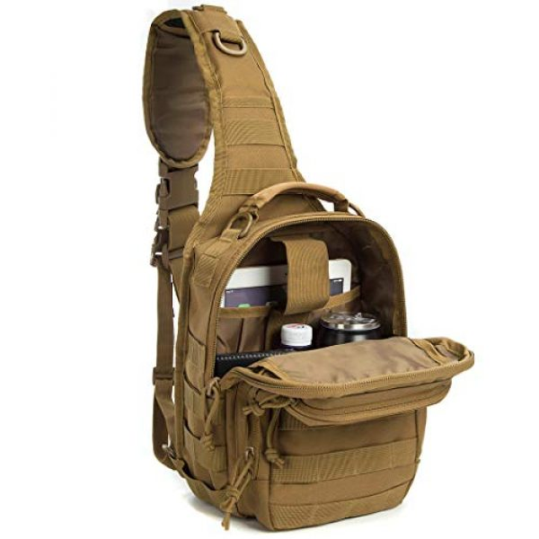 AXEN Tactical Backpack 4 AXEN Tactical Sling Bag Pack Military Rover Shoulder Sling Backpack Small