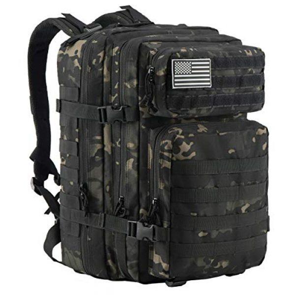 Luckin Packin Tactical Backpack 6 Luckin Packin Tactical Backpack,Military Backpack,Molle Bag 45 Liter Large 2 Pack