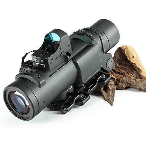 TTHU Rifle Scope 3 TTHU Rifle Scope 4X Fixed Dual Purpose Scope with Mini Red Dot Scope Red Dot Sight for Rifle Hunting Shooting