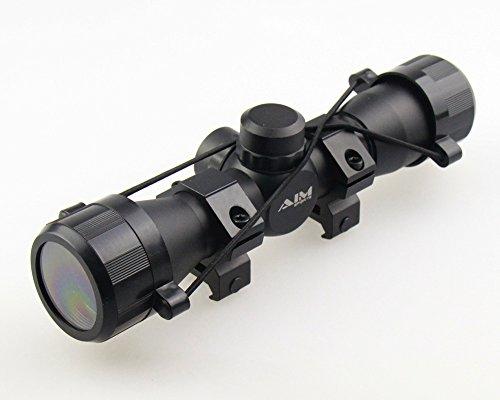 TACFUN Rifle Scope 3 TACFUN - AIM Tactical MIL-DOT Reticle Compact Scope/w Rings