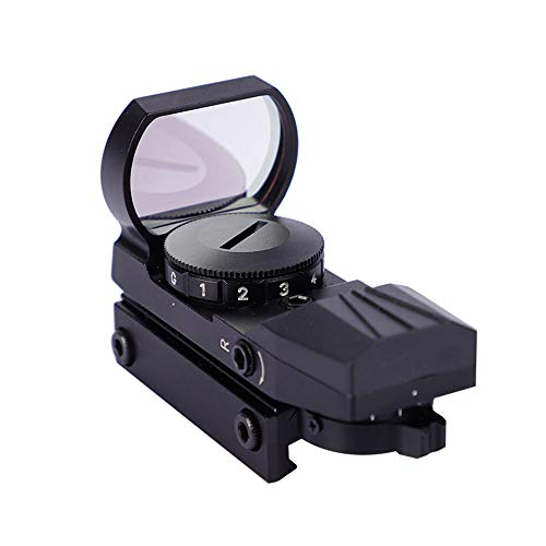 DONGYUCHUN Rifle Scope 1 DONGYUCHUN No Magnification Fast Sight 4 Point Silver Film Holographic Mirror Adjustable Light red dot Sight
