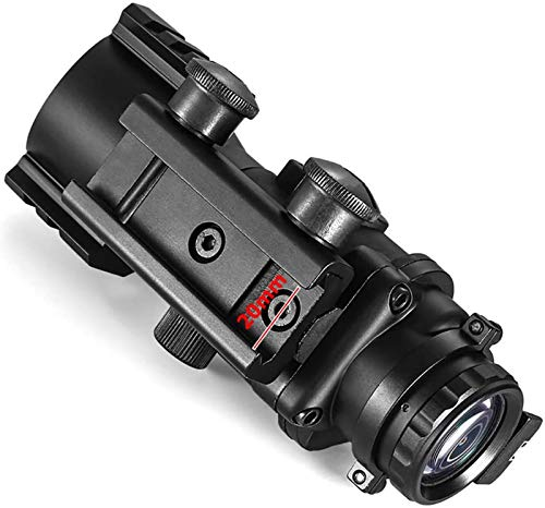 TTHU Rifle Scope 6 TTHU Rifle Scope 4X32 Tactical Rifle Scope Red & Green &Blue Illuminated Reticle Scope with Fiber Optic Sight for Hunting