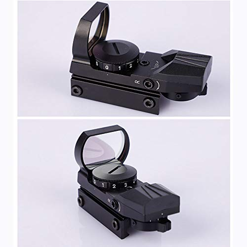 DONGYUCHUN Rifle Scope 3 DONGYUCHUN No Magnification Fast Sight 4 Point Silver Film Holographic Mirror Adjustable Light red dot Sight