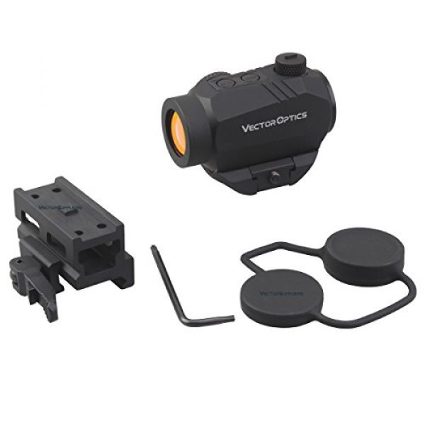 Vector Optics Rifle Scope 3 Vector Optics Harpy 1x22 AR Red Dot Sight Scope with QD Riser Picatinny Mount