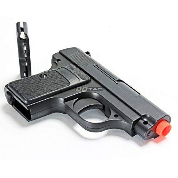 BBTac Airsoft Pistol 7 bbtac 618 110 fps spring concealable airsoft gun with storage case, black/silver(Airsoft Gun)