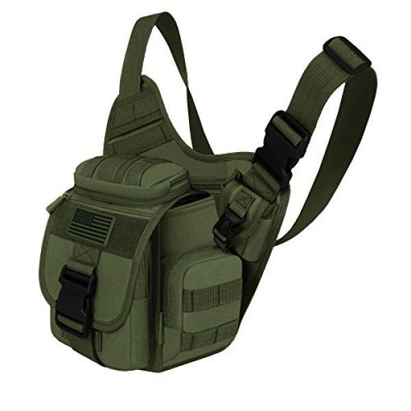 East West U.S.A Tactical Backpack 2 East West U.S.A RT511 Tactical Shoulder Sling Trail Pack with bottle holder