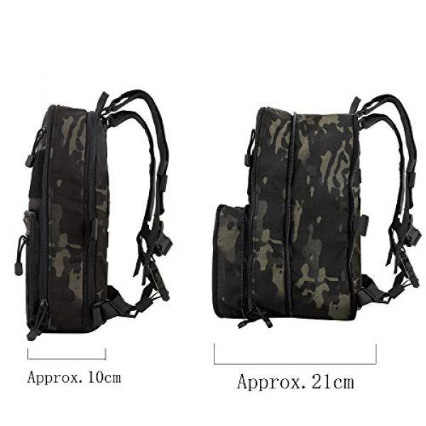 Huenco Tactical Backpack 3 Huenco Tactical MOLLE Military Day Pack Variable Capacity Assault Backpack for Adventure Traveling School