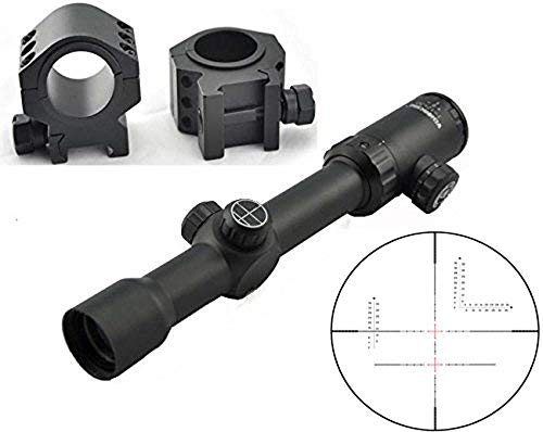 Visionking Rifle Scope 6 Visionking Rifle Scope 1-12X30 Wide Field Riflescopes Illuminated for Hunting Tactical with a Scope Mount