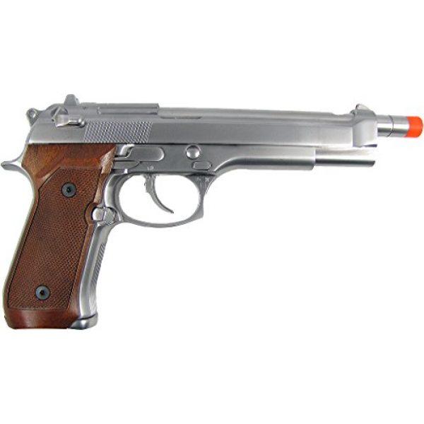 WE Airsoft Pistol 2 WE m92 long-a gas/co2 blowback full metal - silver(Airsoft Gun)