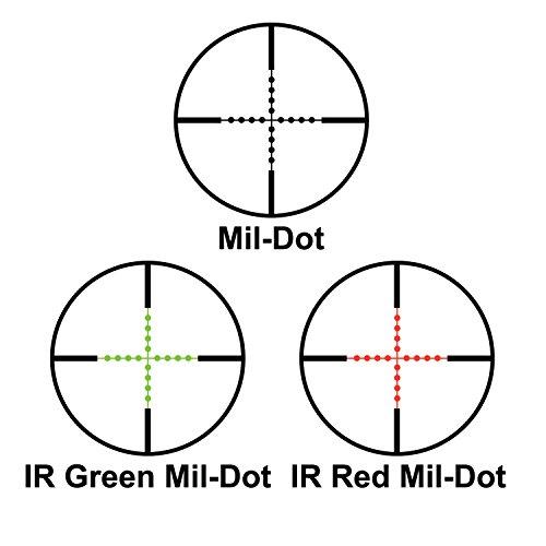 BARSKA Rifle Scope 3 Barska AC12138 Rifle Scope 1-6x32 Red/Green Illuminated Mil-Dot Reticle with Cantilever Ring
