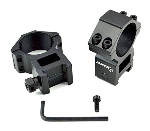 Sniper Rifle Scope Ring 1 Sniper 30 mm High Profile Scope Rings for Picatinny/ Weaver Rail, 4 points contact more Security