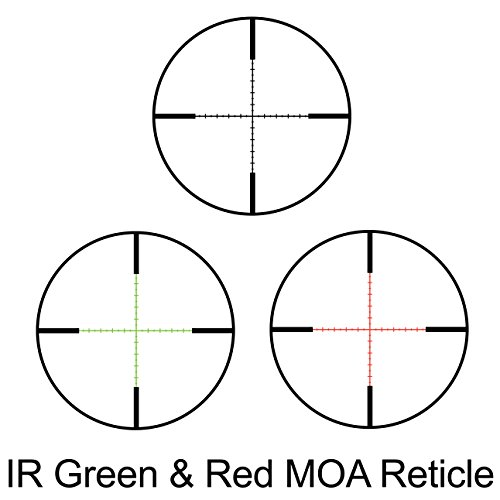BARSKA Rifle Scope 6 BARSKA New Rifle Scope Red/Green Illuminated (6-24x56mm)